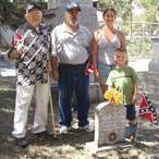 Four Generations of von Roeder family next to ancestor grave